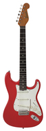 Grosh NOS Retro Custom Fiesta Red Alder