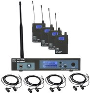 Galaxy AS-11004 In-Ear Wireless Monitor Band Pack for Four