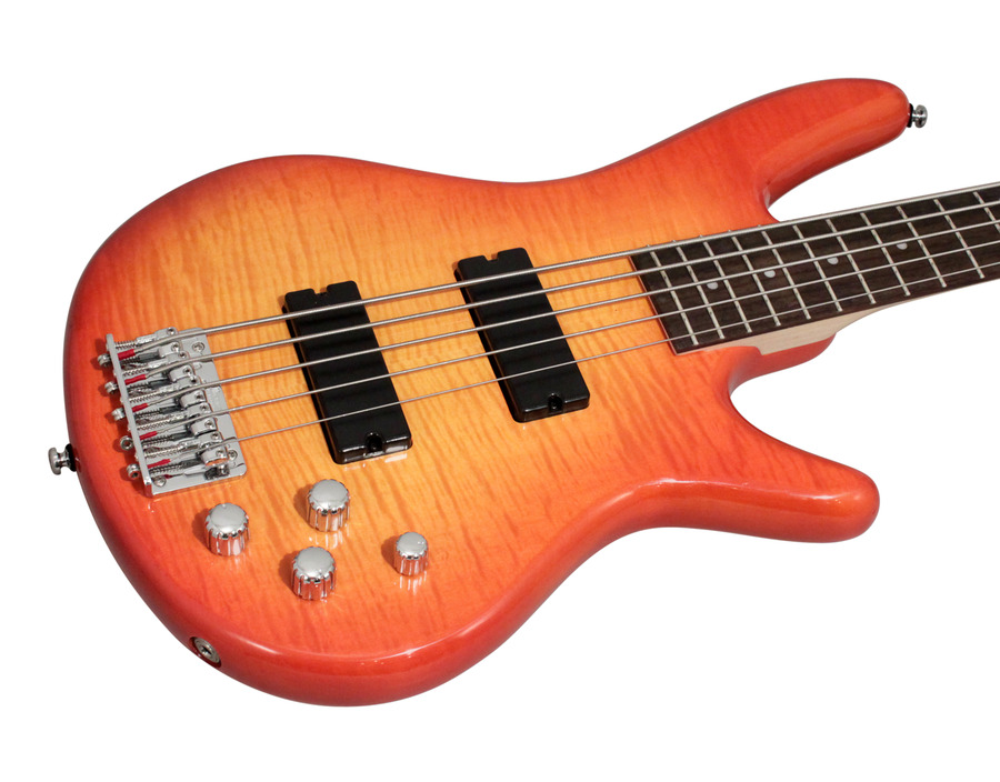 Ibanez GSR205FM AMB Gio Amber Burst Electric Bass | Rainbow Guitars