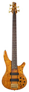 Ibanez SR805 AM Standard Poplar Burl Amber Electric Bass