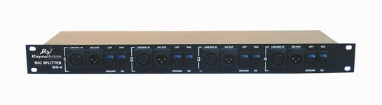 Rapco-Horizon MS-4 4-Channel Mic Splitter
