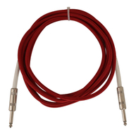 10 Ft Vintage Cloth Guitar Cable Red