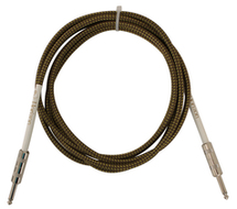 Rapco-Horizon 20 Ft Vintage Cloth Guitar Cable Tweed