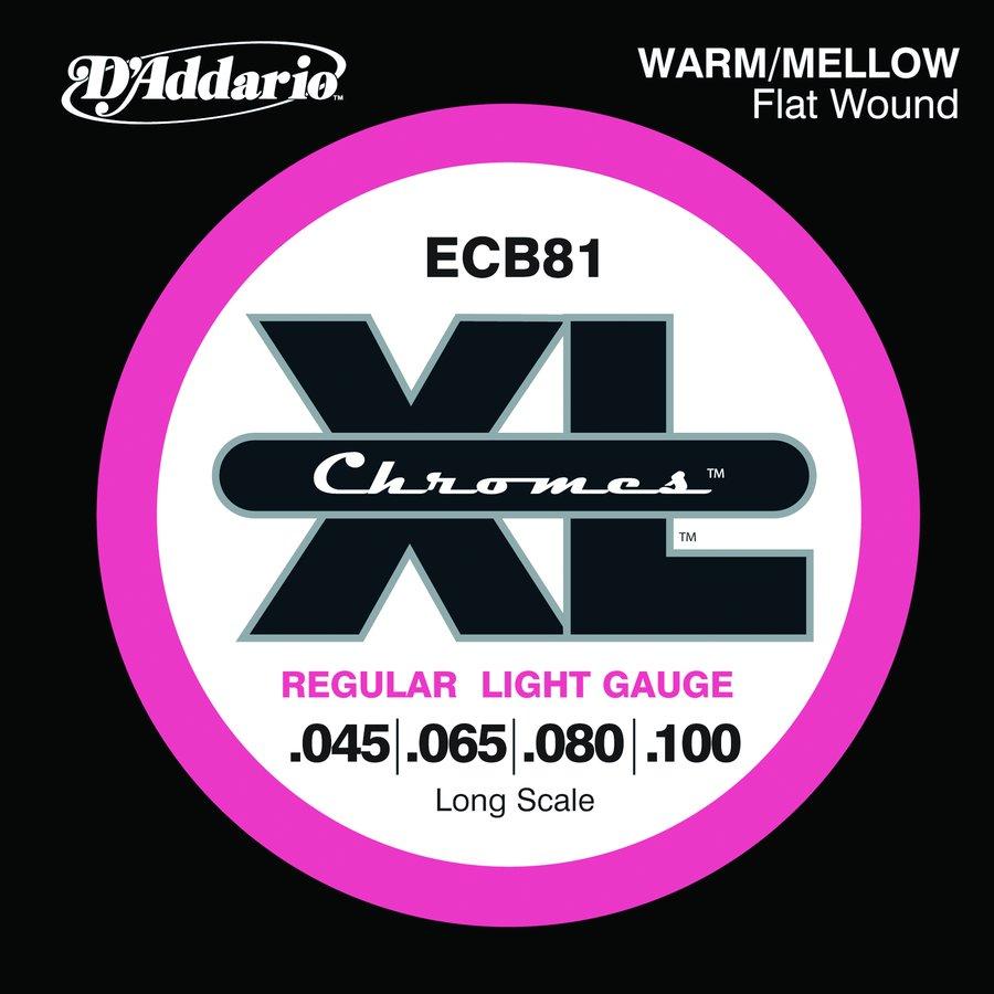 d 39 addario electric bass strings ecb81 xl chromes flat wound long scale rainbow guitars. Black Bedroom Furniture Sets. Home Design Ideas