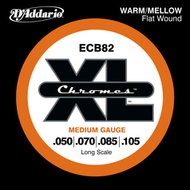 D'Addario ECB82 XL Chromes Flat Wound Long Scale Bass Strings