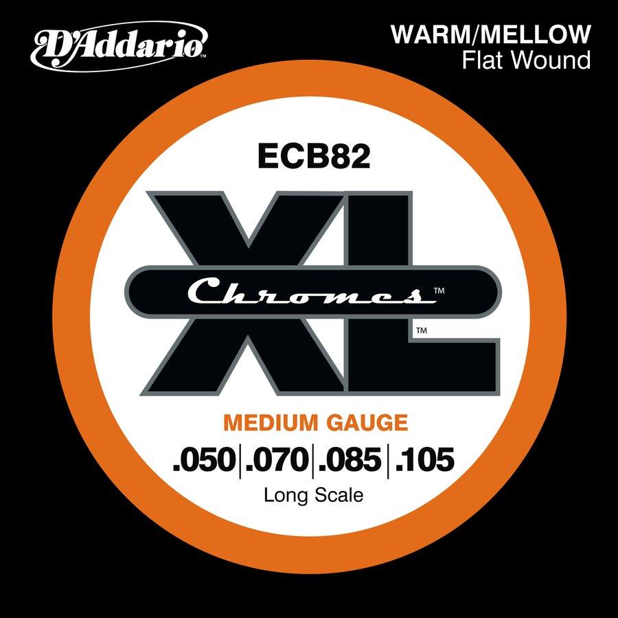 D'Addario Bass String Set | ECB82 XL Chromes Flat Wound ...