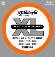 D'Addario EHR310 XL Half Rounds Regular Light Gauge Electric Guitar Strings