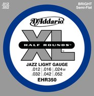 D'Addario EHR350 XL Half Rounds Jazz Light Gauge Electric Guitar Strings