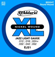 D'Addario EJ21 XL Nickel Wound Jazz Light Gauge Electric Guitar Strings