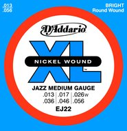 D'Addario EJ22 XL Nickel Wound Jazz Medium Gauge Electric Guitar Strings