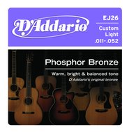D'Addario EJ26 Custom Light Phosphor Bronze Acoustic Guitar Strings