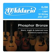 D'Addario EJ38 Light Phosphor Bronze 12 String Acoustic Guitar Strings