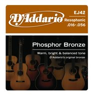 D'Addario EJ42 Custom Heavy Phosphor Bronze Resophonic Guitar Strings
