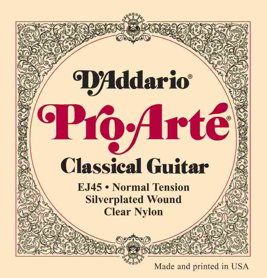 Addario Classical Guitar Strings | Pro-Arte EJ45 Normal Tension ...