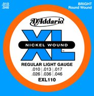 D'Addario EXL 110 Nickel Wound Regular Light Gauge Electric Guitar Strings .010-.046