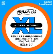 D'Addario Nickel Wound Regular Light/7-String Electric Guitar Strings