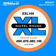 D'Addario EXL 160  Nickel Wound Long Scale Electric Bass Strings