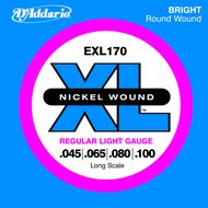D'Addario EXL 170  Nickel Wound Long Scale Electric Bass Strings