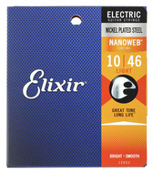 Elixir Electric Guitar Strings<BR>Nanoweb Plated Plain Steels-Light