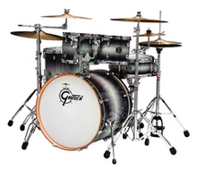 Gretsch Catalina Birch 5-piece Shell Pack In Ebony Diamond Halogen Burst