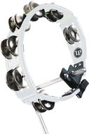LP Cyclops Mountable Tambourine, White, Steel Jingles