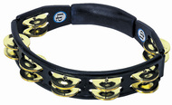 LP Cyclops Hand Held Tambourine, Black, Brass Jingles