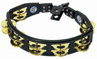 LP Cyclops Mountable Tambourine, Black, Brass Jingles