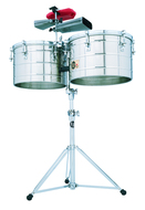 LP Tito Puente 15-16 Steel Thunder Tims Timbales With Stand And Bracket