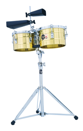 LP Timbalitos Brass with Stand