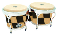 LP Aspire Wood Bongo Checker Board with Chrome HW