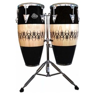 "LP Aspire 10"" & 11"" Conga Set Scarab Finish Chrome Hardware"