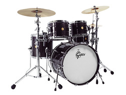 Gretsch New Classic 4pc Euro Shell Pack In Black Sparkle Lacquer