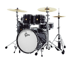Gretsch New Classic Euro 4pc Shell Pack In Black Sparkle Lacquer