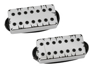 Bare Knuckle Aftermath 7-String Pickup Set Chrome Battleworn