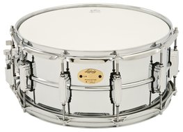 Ludwig LB402B 6.5x14 Chrome Plated Brass Shell Snare Drum Supra-Phonic Snares