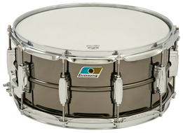 Ludwig 6.5 X14 LB417 Black Beauty with Blue Olive Badge