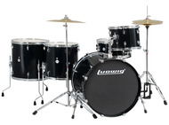 Ludwig Accent Plus Complete Outfit In Black Sparkle