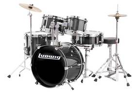 Ludwig 5 Pc. Ludwig Jr Outfit - Black
