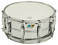 "Ludwig LM402B 6.5""x14"" Supra-Phonic Snare Drum with Blue And Olive Badge"