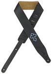 "Levys 2½"" Christian Cross Garment Leather Black Guitar Strap"