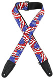 "Levys 2"" America Flag Sublimation Printed Guitar Strap"