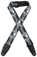 "Levys 2"" Yin Yang Sublimation Printed Guitar Strap"