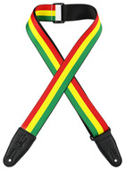 "Levys 2"" Rasta Stripes Sublimation Printed Guitar Strap"