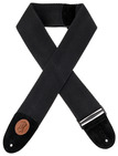 "Levy's 3"" Heavy-weight Black Cotton Weave Guitar Strap"