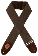 "Levys 3"" Heavy-weight Brown Cotton Weave Guitar Strap"
