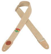 "Levy's Leather 2"" Hemp Guitar Strap<BR> with Rastafarian  Design"