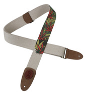 "Levy's Hemp 2"" Guitar Strap Pot Leaf Design"