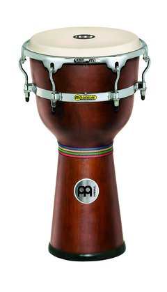 Meinl Floatune Series Wood Djembe, 12 African Brown Matte
