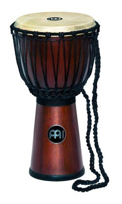 "Meinl 12"" Rope Tuned Wood Djembe, African Brown"