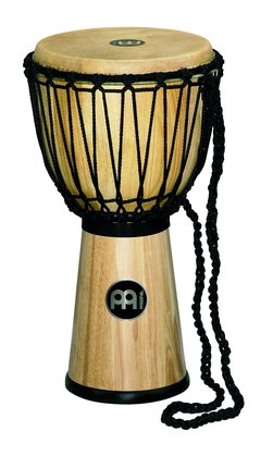 "Meinl 12"" Rope Tuned Wood Djembe, Natural"